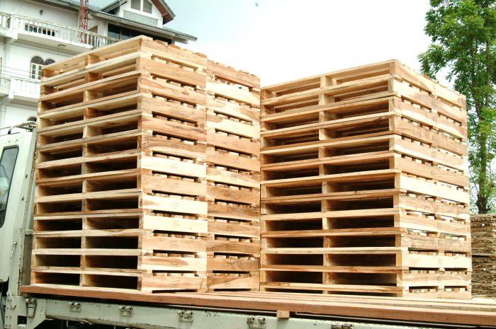 พาเลทไม้ สามคาน | 3 Stringers Wooden Pallets